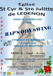Concert de Noël à Lédenon